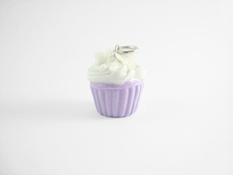 Miniature Charm Taro Cupcake with Purple Strap