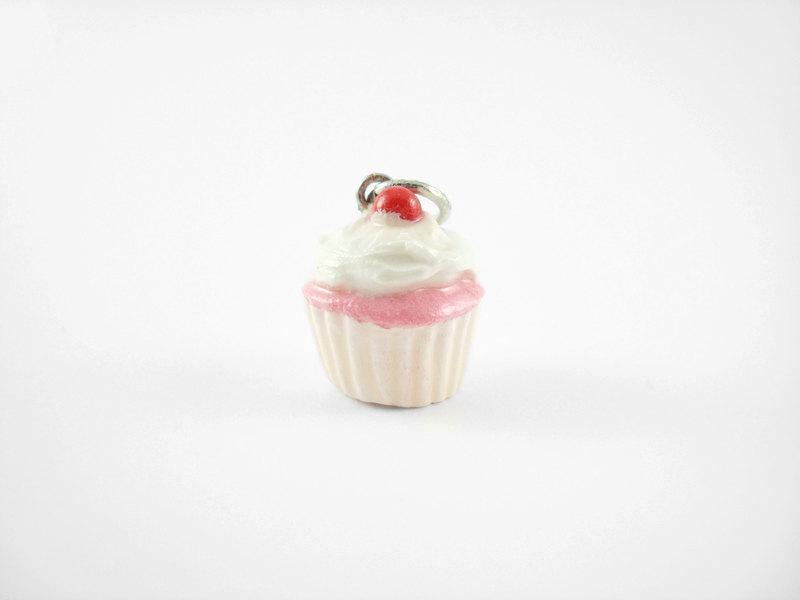 Miniature Charm White Cherry Cupcake