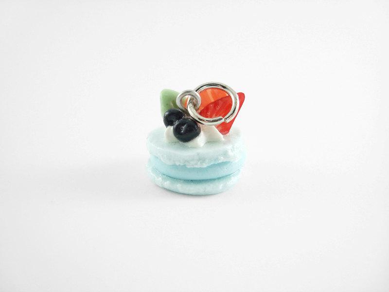 Miniature Charm Blue Macaroon