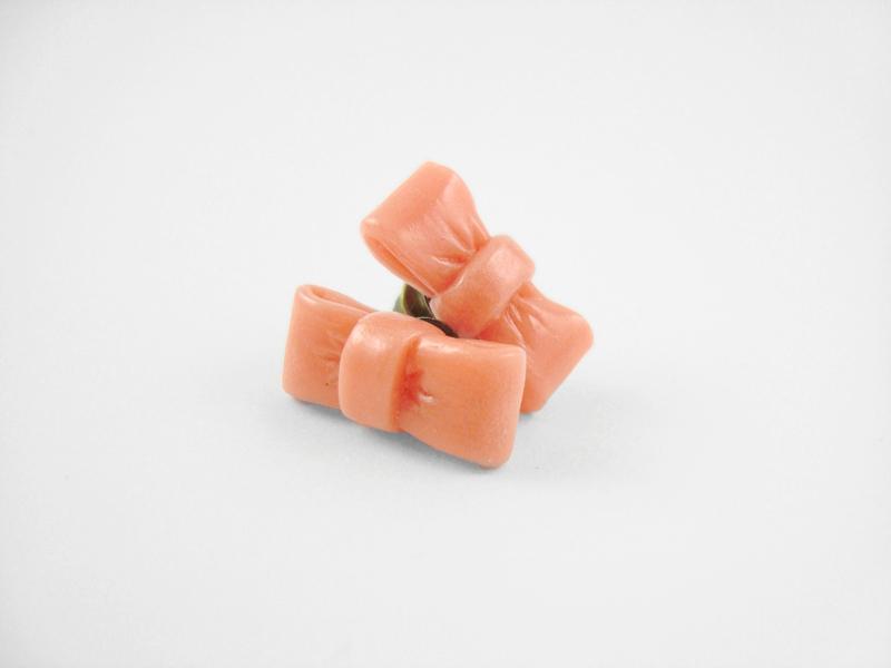 Pink Bow Stud Earrings